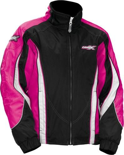 Women Magenta Charm Small Castle X Jacket