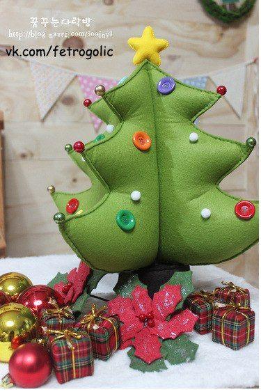 arbol de Navidad Peluche con Molde