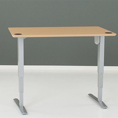 Latitude Run Reaves Height Adjustable Standing Desk Color Silver