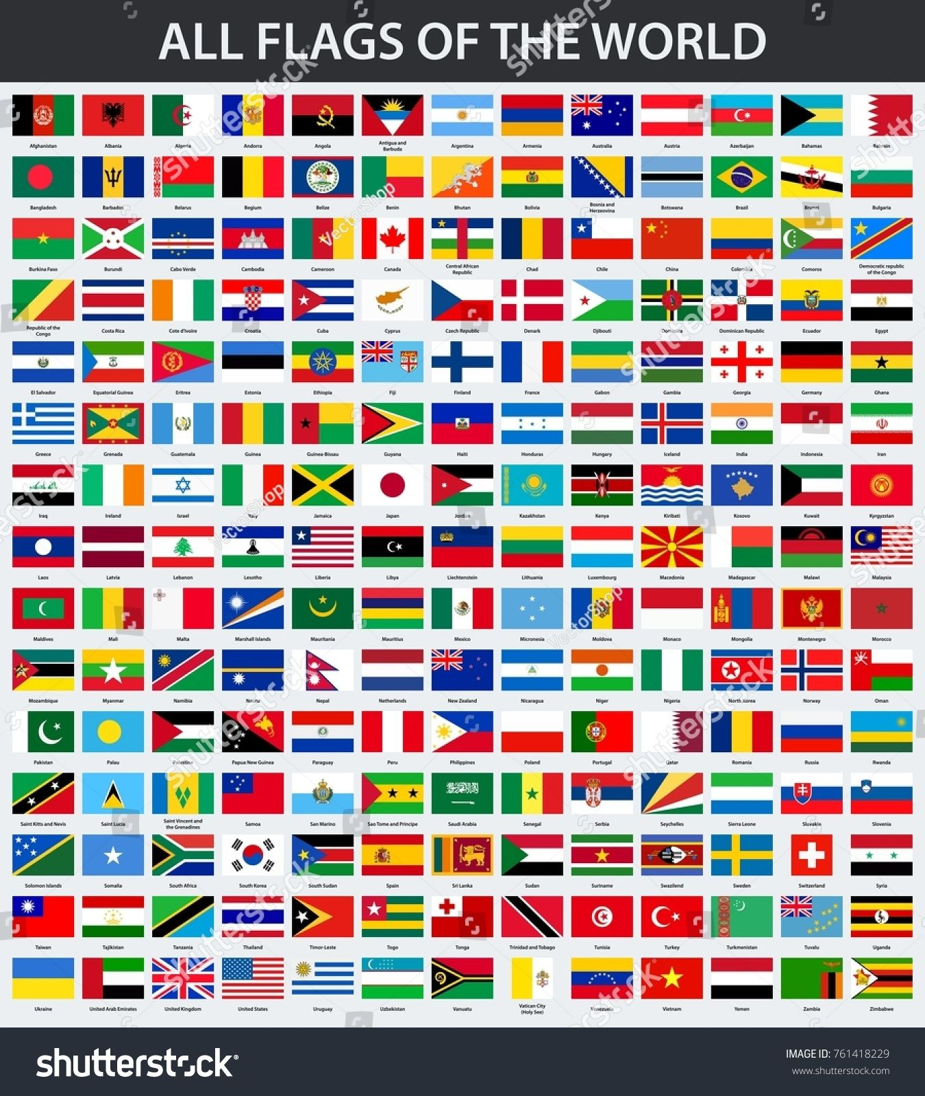 All The Flags Of The World And Their Names All Flags Of The World In Alphabetical Order World Flags Order Alphabetical All Flags Flags Of The World Flag