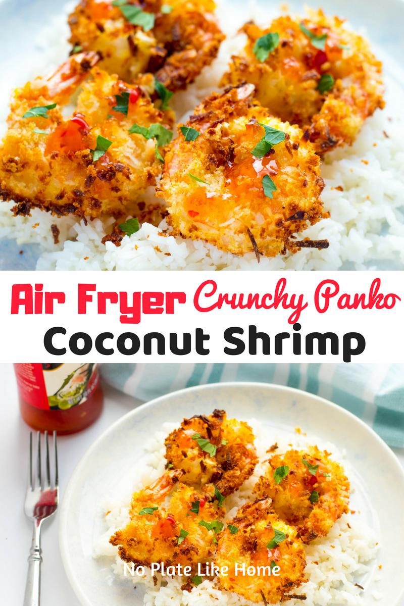 Air Fryer Crunchy Panko Coconut Shrimp Air fryer recipes
