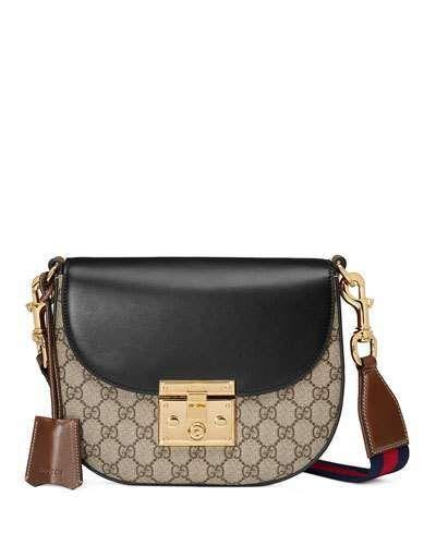 3a5da25e3cb Gucci Padlock Medium GG Supreme Saddle Bag