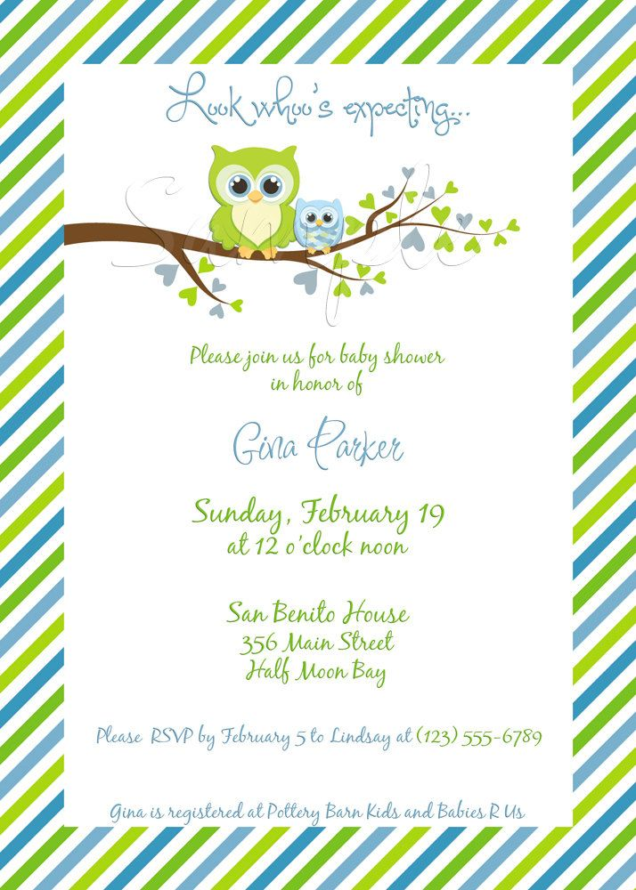 Gina owl baby shower invitation boy digital file you print gina owl baby shower invitation boy digital file you print filmwisefo
