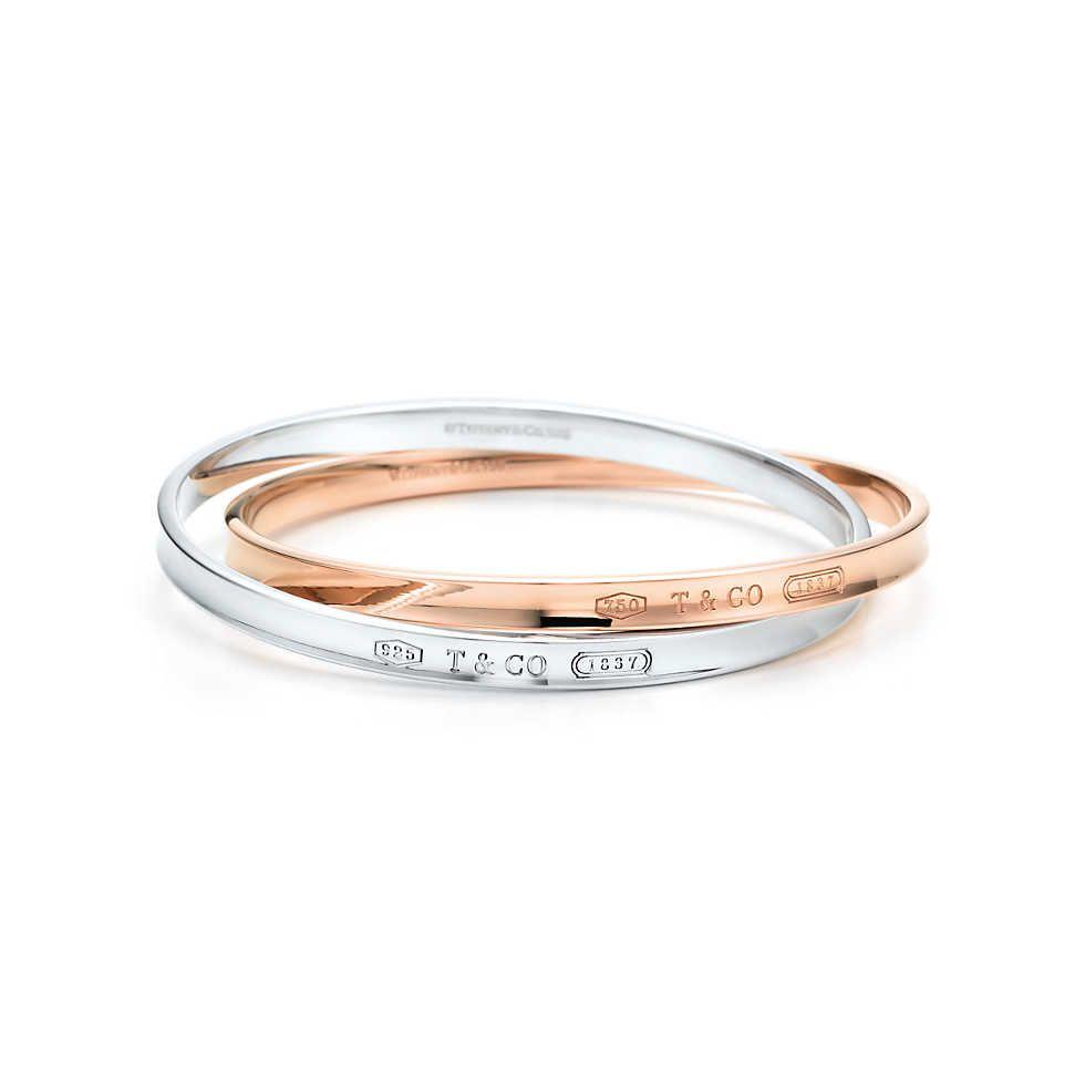 Tiffany 1837 Interlocking Circles Bangle In Silver And