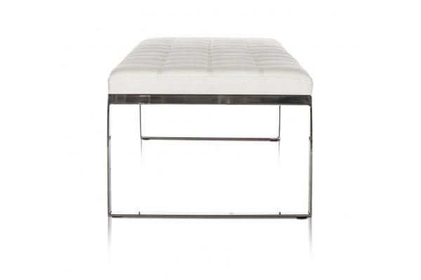 Savina Contemporary Bench White Modani Contemporary Bench Bench Contemporary