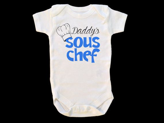 932ae19ea Daddy s Sous Chef Baby Onesie - Gift for Chef