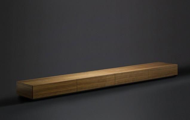 Lowboard von Mobilamo in Echtholzfurnier Nuss
