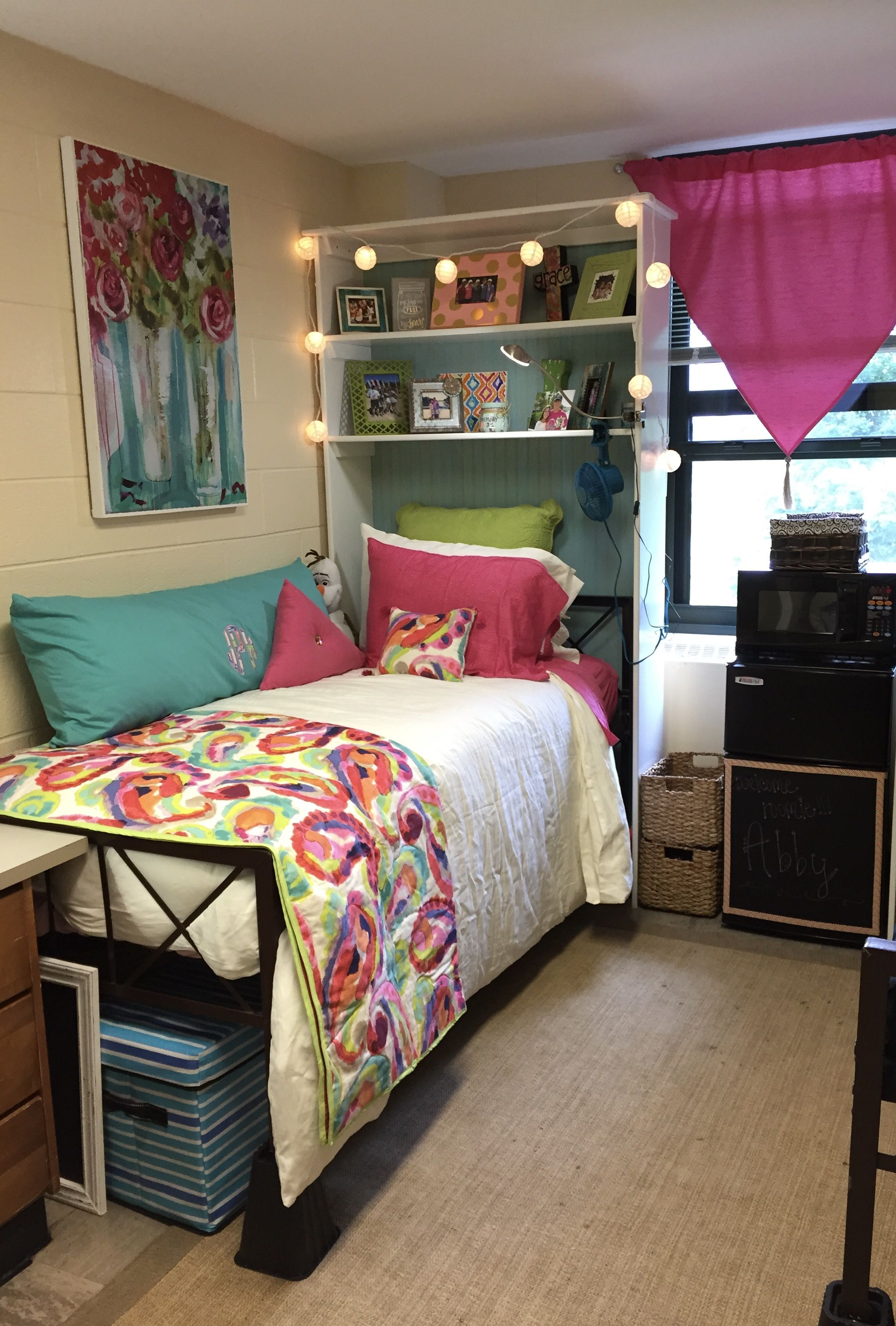 Dorm Room Headboards: Dorm Room Appalachian State University #headboard