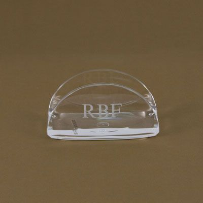 Custom engraved acrylic business card holderdisplay add the pen custom engraved acrylic business card holderdisplay add the pen cup and notepad holder for a great office gift available with vinyl personalization colourmoves