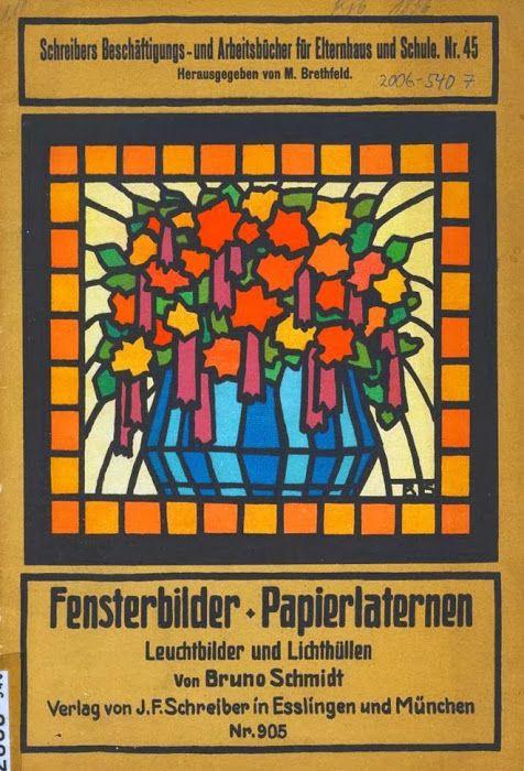 dollhouse paper: Vidrieras de papel, Fensterbilder by Bruno Schmidt - CASITA DE PAPEL