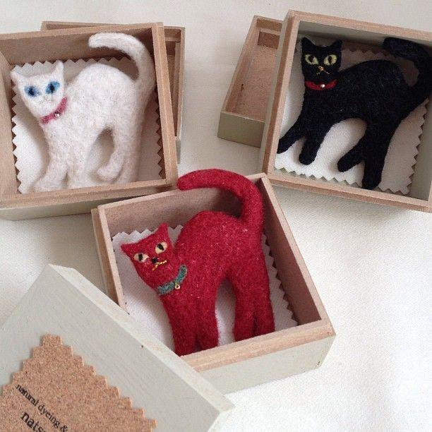 Amazing Needle-Felted Cats by natsuko.m #needlefeltedcat