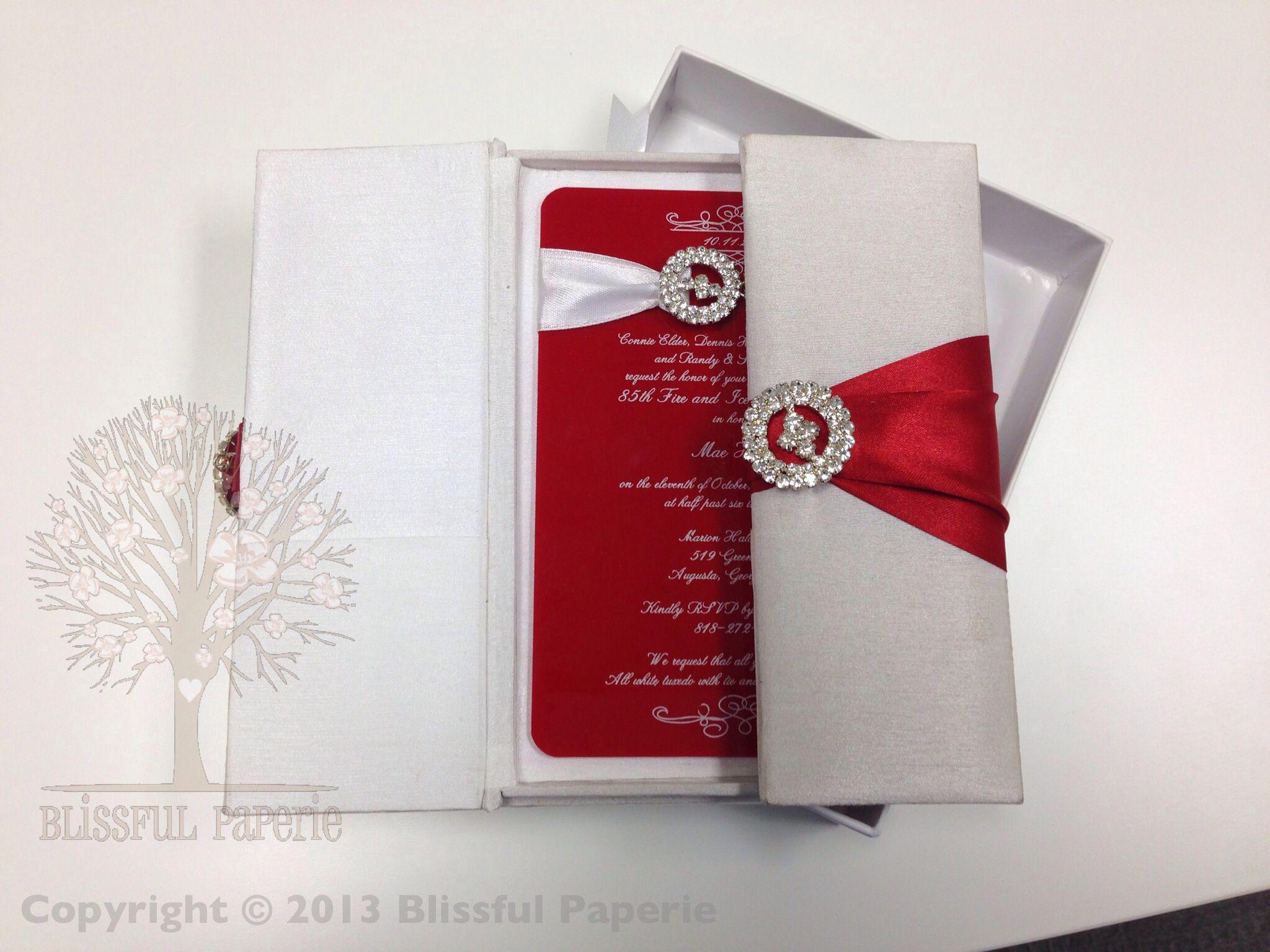 Gatefold Silk Folio with Acrylic invitation. Stunning! Designed by ...