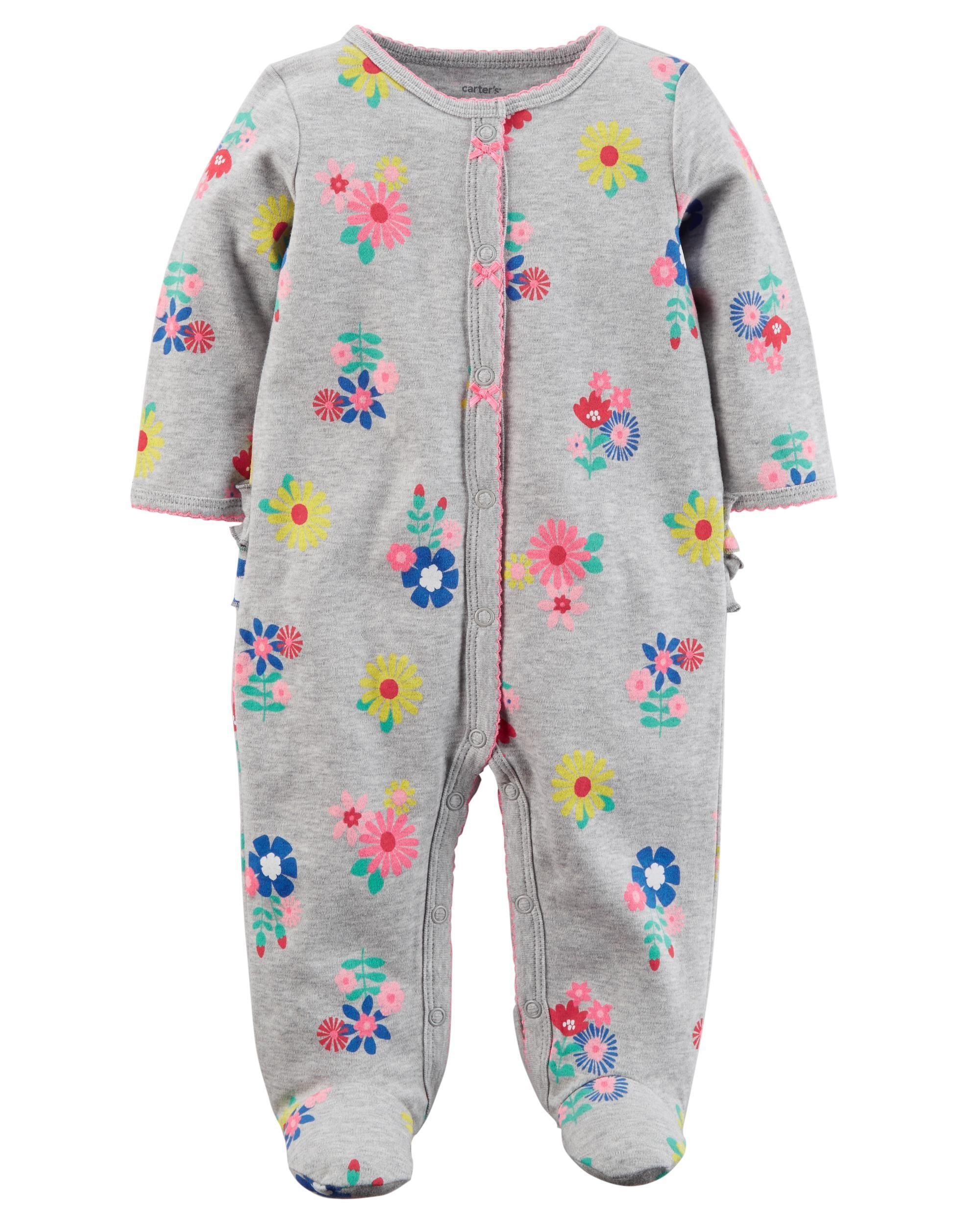 8baf5350ebc2 Snap-Up Floral Cotton Sleeper