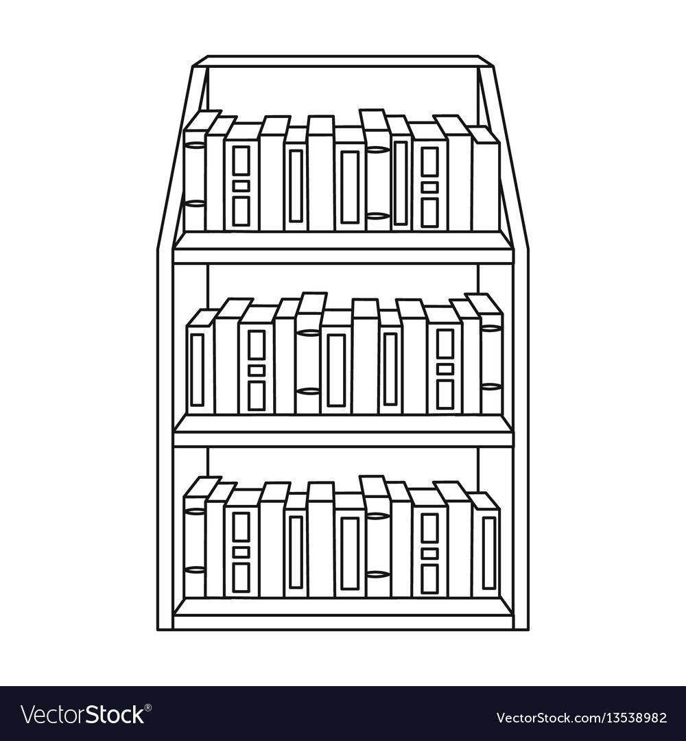 Bookcase Cartoon Black And White Book Clip Art Black And White Books Bookshelf Art