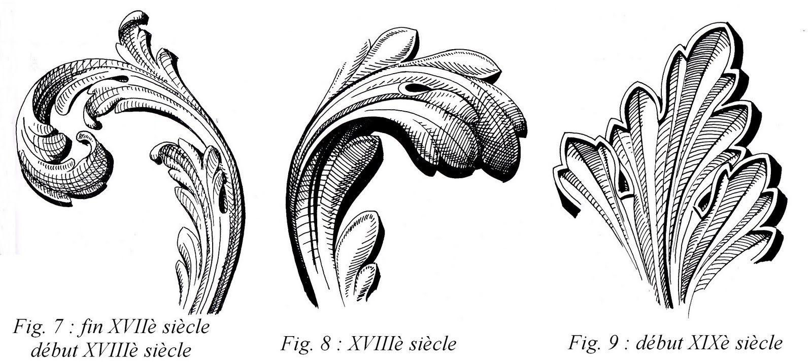 Acanthe feuille d 39 acanthe engraving en 2019 wood - Dessin de feuille ...