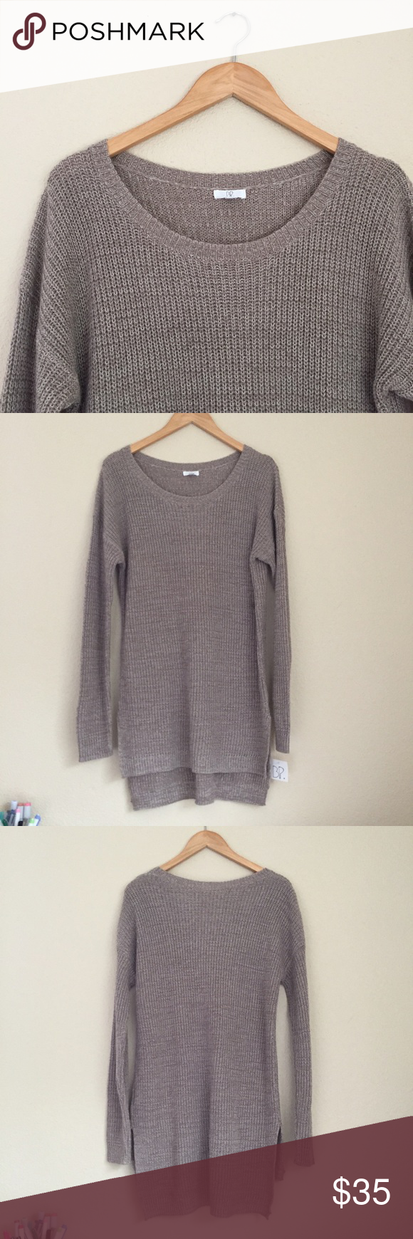 Nordstrom BP Oversized Oatmeal Tunic Sweater NWT | Tunics, Scoop ...
