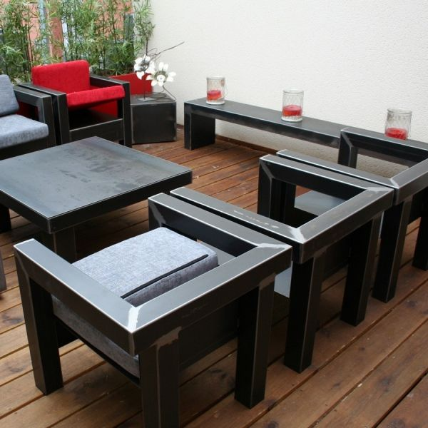 Fauteuil metal fabrication française Steel furniture, Steel and - meuble en fer design