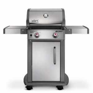 Weber Spirit S 210 2 Burner Propane Gas Grill In Stainless Steel With Built In Thermometer 46100001 Natural Gas Grill Gas Grill Propane Gas Grill