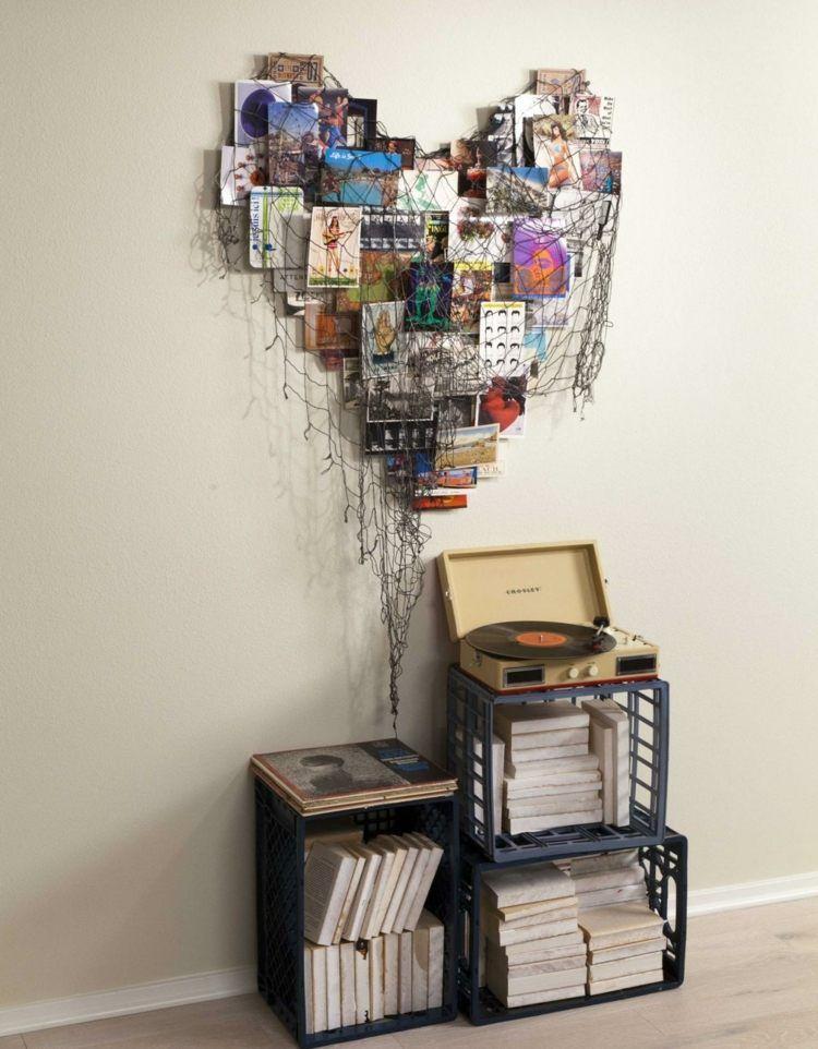 deko aus alten postkarten selber basteln coole idee gestaltung. Black Bedroom Furniture Sets. Home Design Ideas