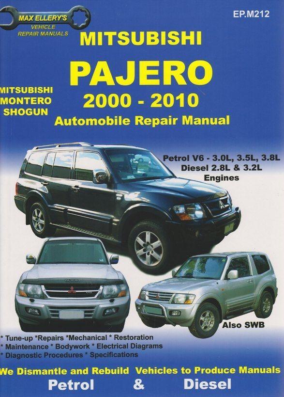 Mitsubishi Pajero Repair Manual 1999 2014 Mitsubishi Pajero Repair Manuals Mitsubishi