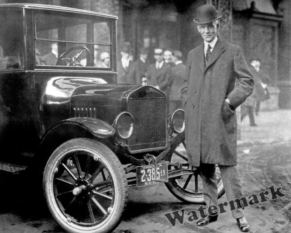 Photograph of Automobile Inventor Henry Ford & his Model T Year 1921 ...