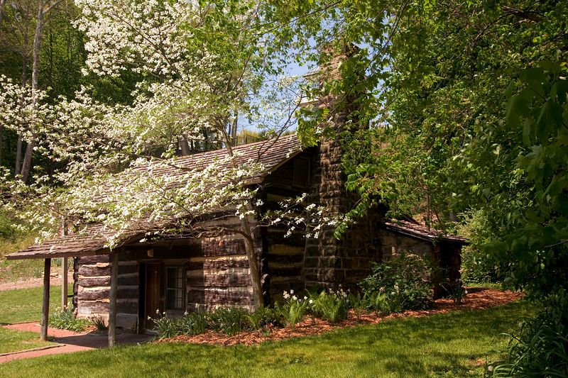 the old log cabin mill creek park youngstown ohio across