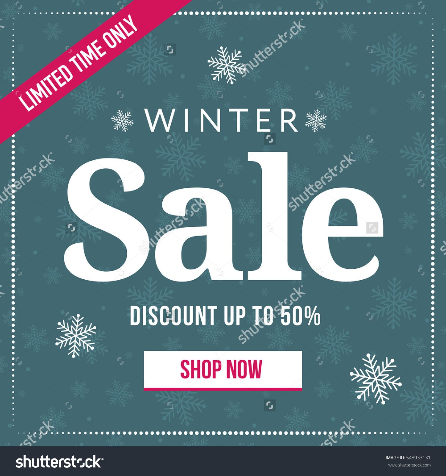 Winter Sale Banners Spring Season Banners