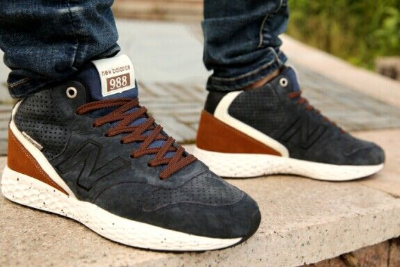 Discount New Balance FreshFoam Navy Blue Brown Mens Sneakers For Males/Boys