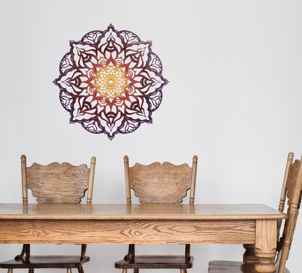 Mandala Wall Decor Kitchen Wall Art Home Decor Wood Decor Etsy Mandala Wall Decor Wall Art Living Room Wall Decor