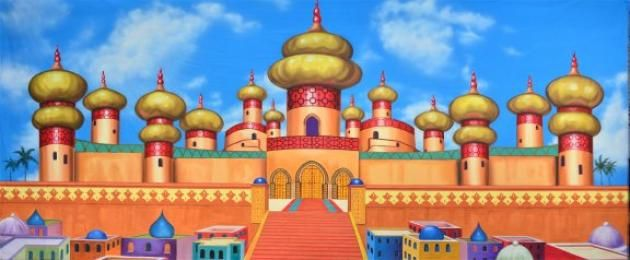 Make Your Stage Production Of Aladdin More Splendid With This Arabian Palace Exterior Backdrop From Grosh Call Our Consultants Now And Rent It For