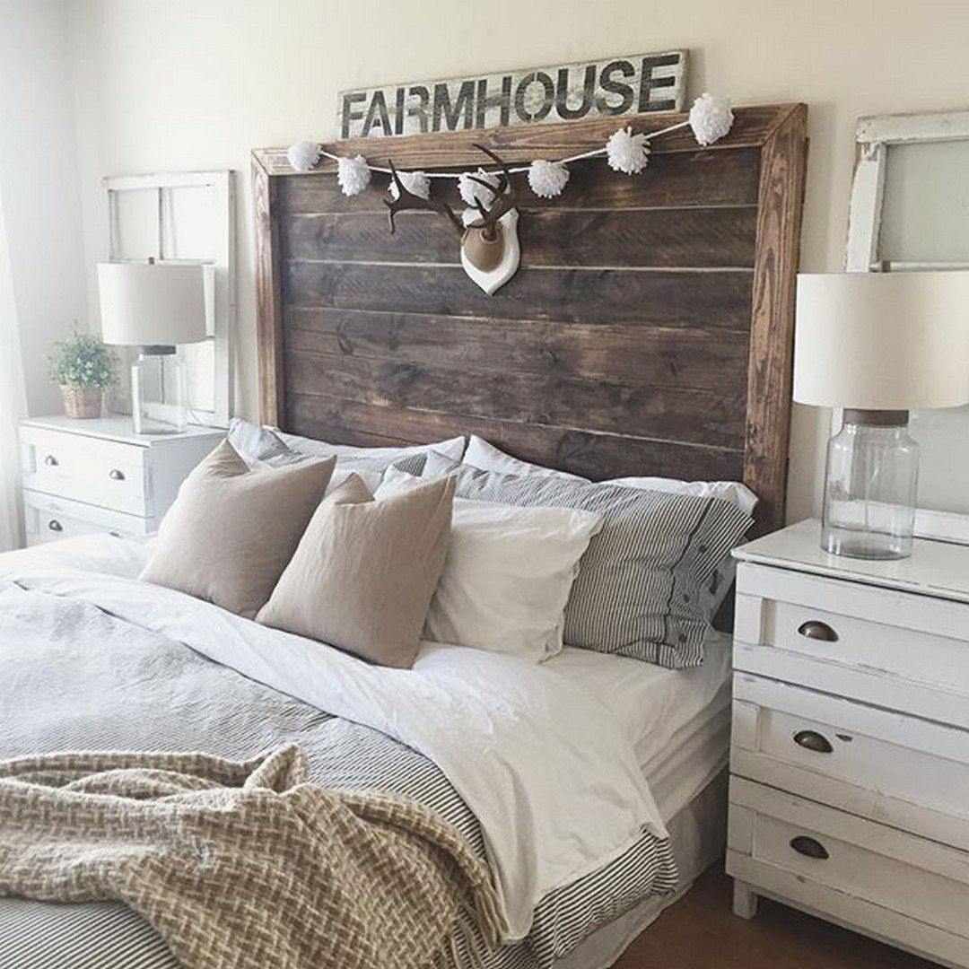 Rustic Farmhouse Bedroom Decorating Ideas To Transform Your Bedroom 38 Chambre A Coucher Decoration Chambre Idee Decoration Chambre