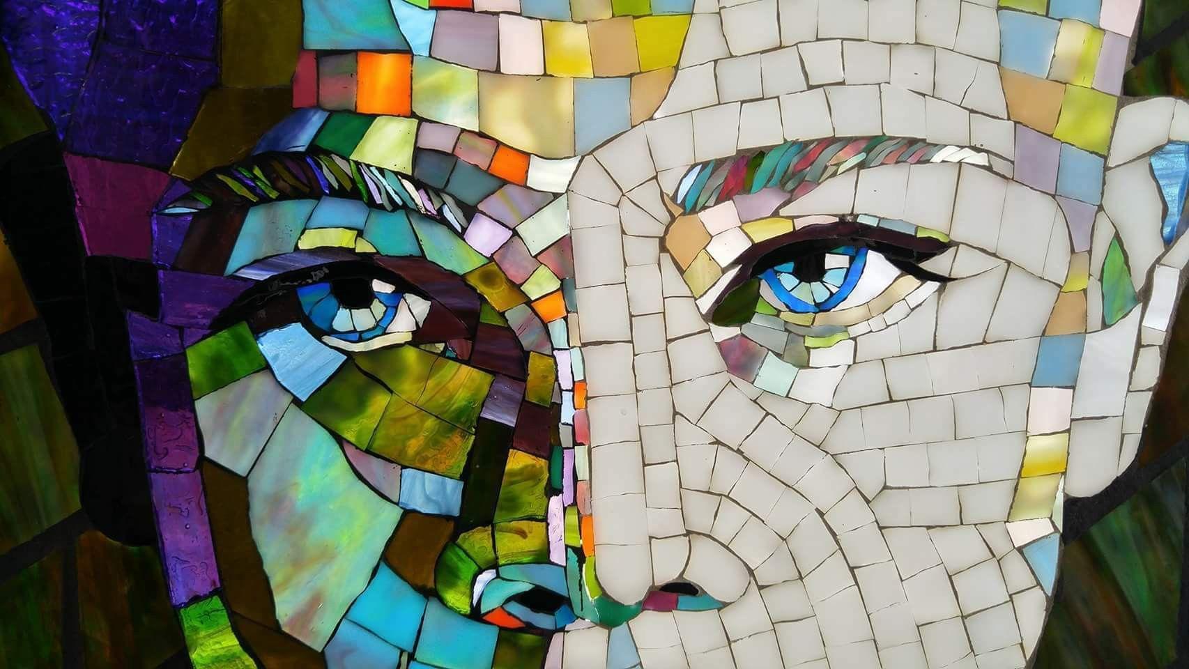 Pin De Mar V En Mosaicos Mosaicos Rostros Caras