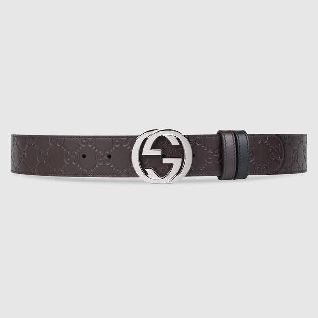 37d90d108 Gucci Reversible Signature belt in 2019 | Products | Brown leather ...