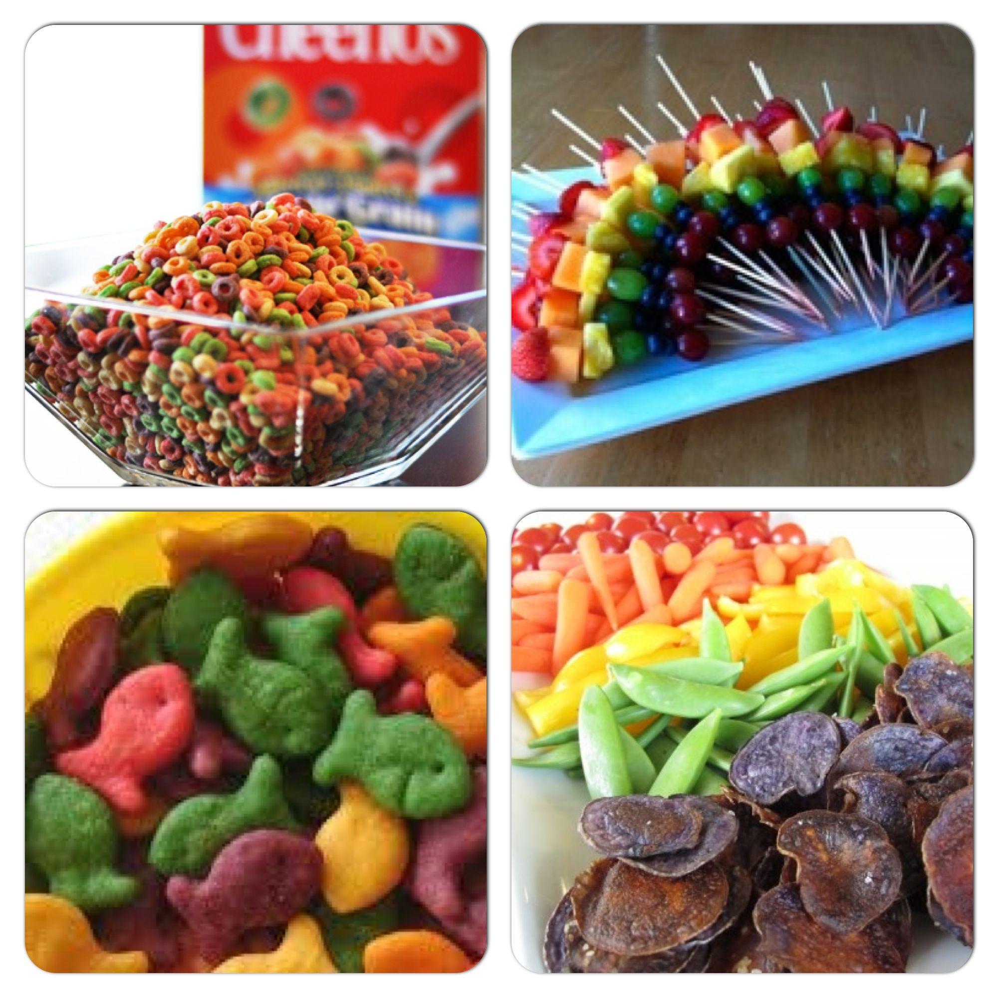 Rainbow Snacks For Sophia's 1st Birthday
