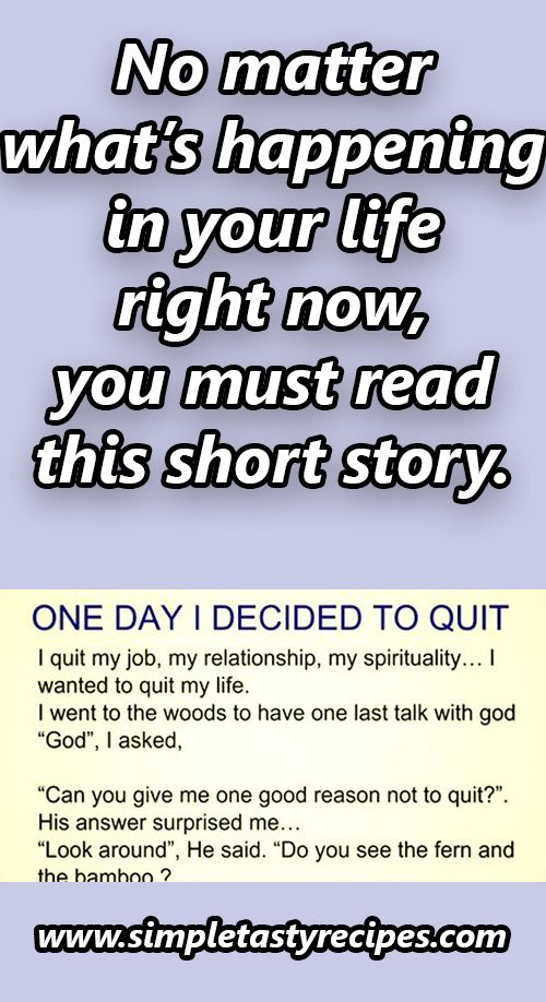It was one seemingly ordinary day when I decided to QUIT\u2026 All of a