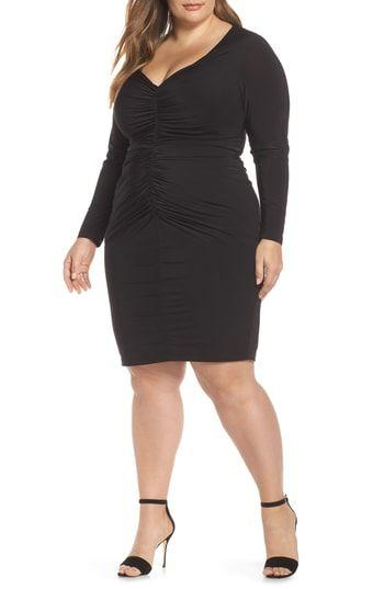 0d7159b948b Eliza J Ruched Body-Con Dress Plus Size Fashion For Women