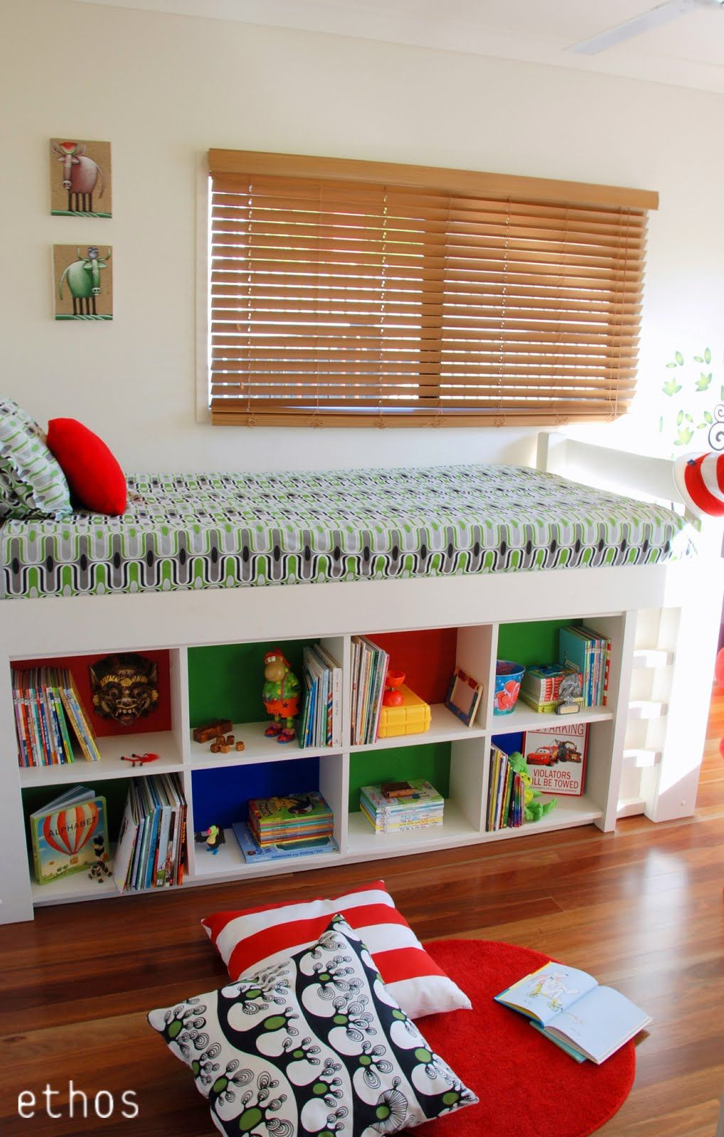 Bright colorful boyus room parents and boys
