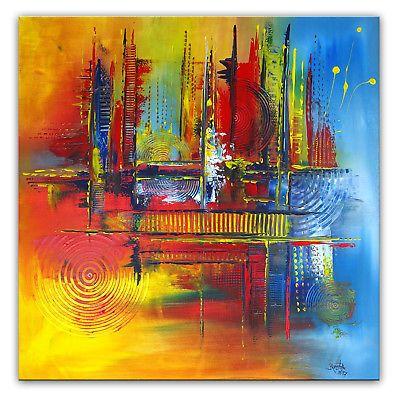 BURGSTALLER Original Gemälde Herbstzeit handgemaltes Wandbild ...
