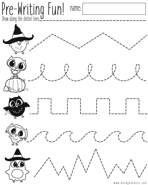 Tracing Worksheet Kindergarten [ 3000 x 2400 Pixel ]