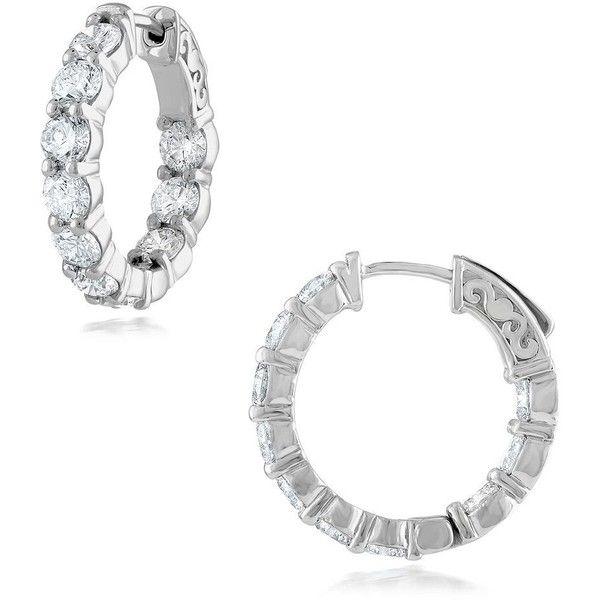 Diana M. Jewels 18k Diamond Oval Hoop Earrings 3v6Fbn4Nq