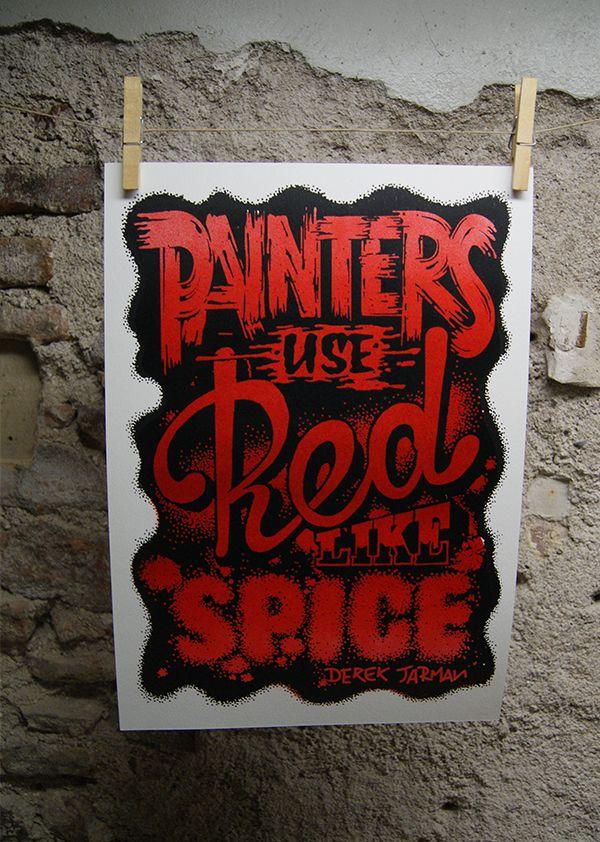 Color Quotes / Silkscreen Prints by Outline Studio , via Behance