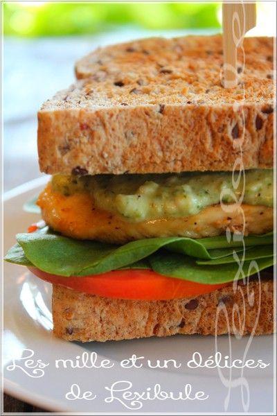 les milles & un délices de ~lexibule~: ~Sandwich au poulet, mayonnaise au pesto~