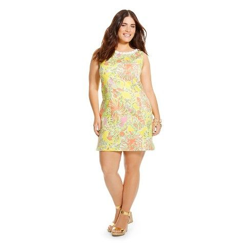 Lilly Pulitzer For Target Womens Plus Size Shift Dress Happy