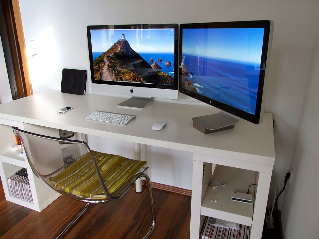 modern computer desk designs for imac fascinating white thick imac computer desk design inspiration with - Computer Desk Designs For Home