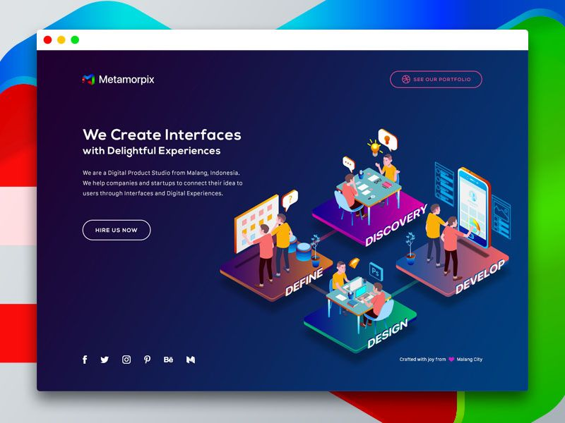 Hello Dribbble We Are A New Digital Product Studio From Malang Indonesia We Help Companies And Startups Isometric Design Web App Design Web Design Trends