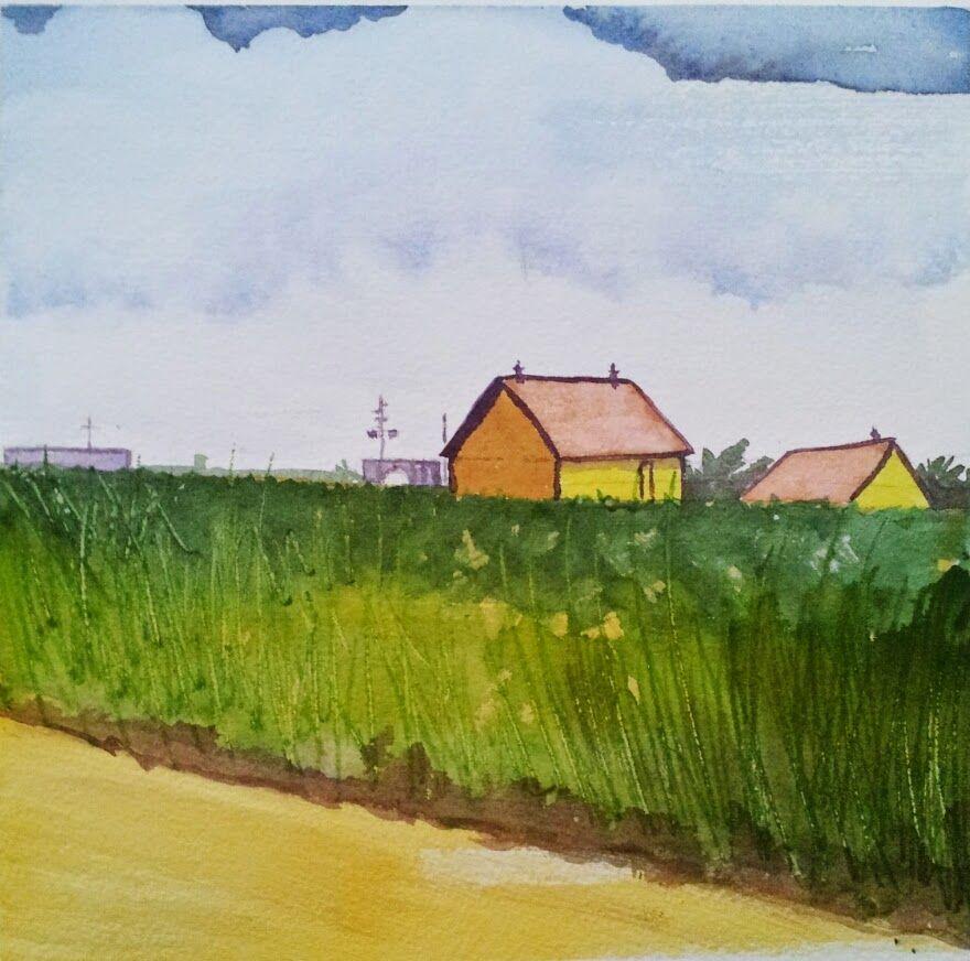 experimental farm, Ottawa.  watercolour