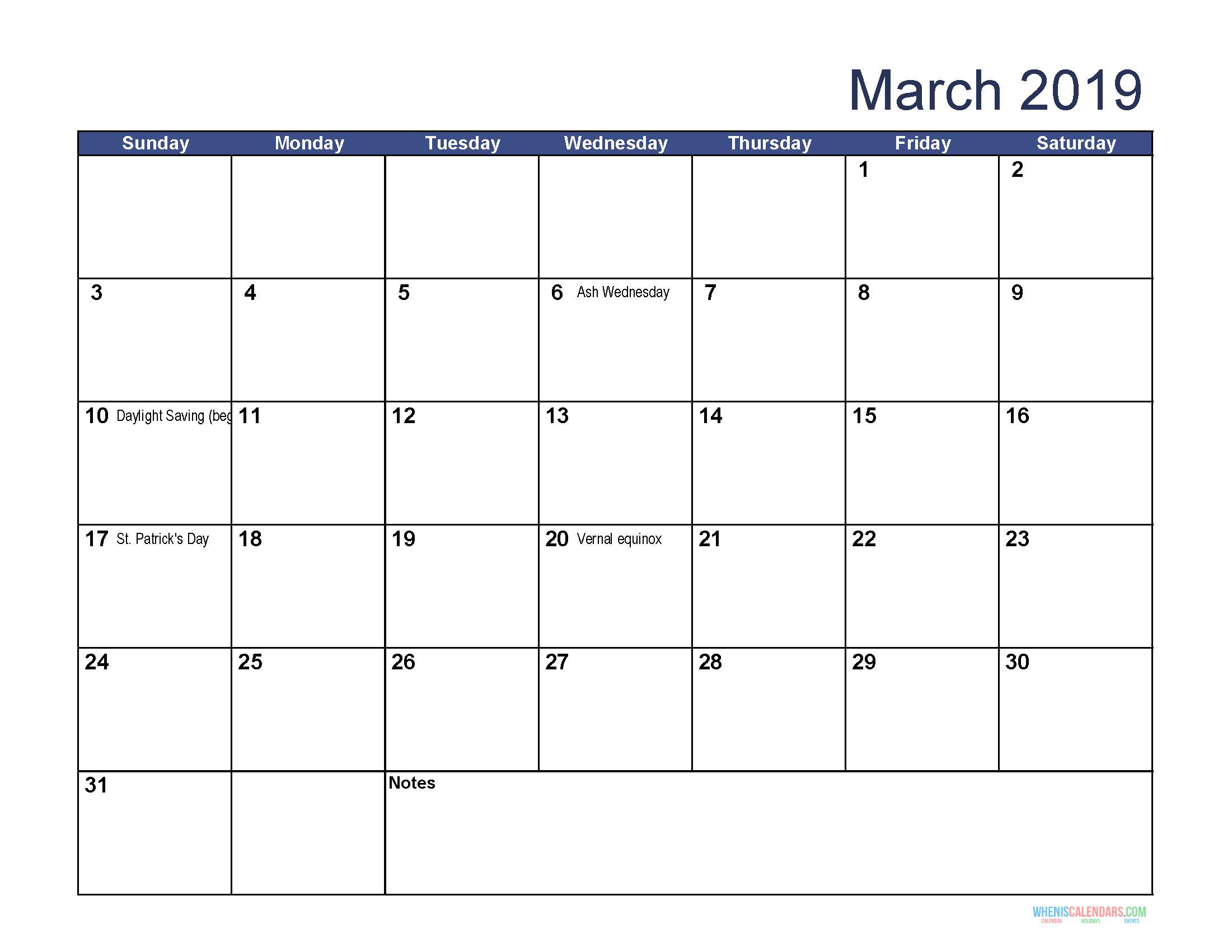 photo regarding Printable Word Calendar called Printable Calendar for March 2019 Term March 2019 Calendar