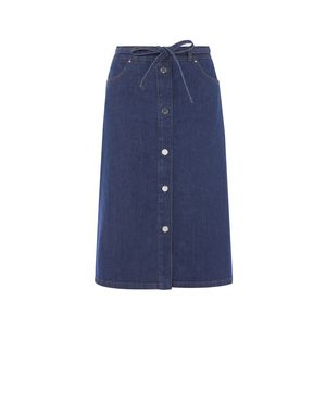 Button Through Denim Skirt by Karen Millen