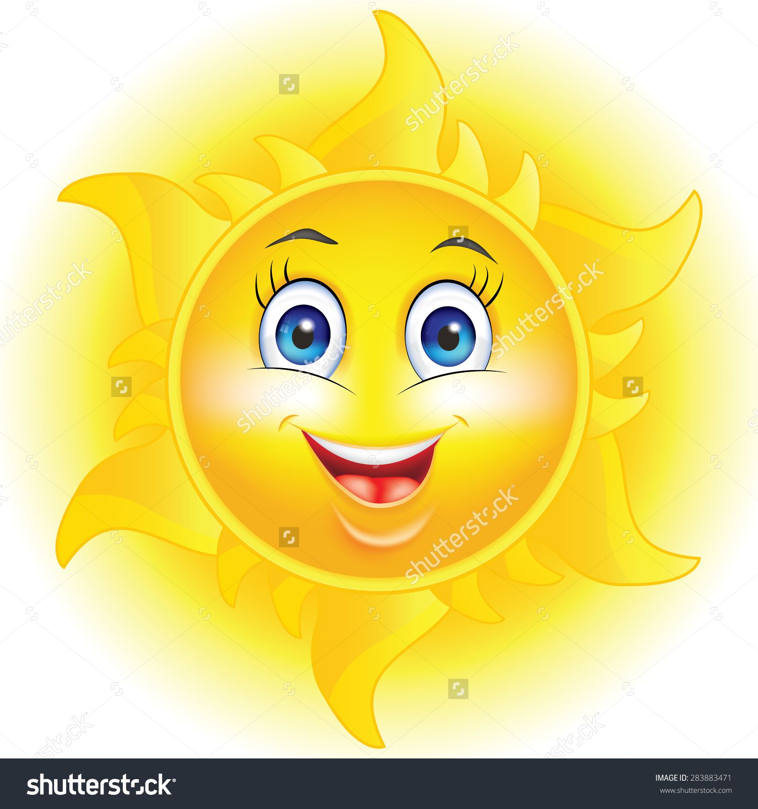 Cartoon Sun With Happy Face And Flames Print Colors Used Cartoon Sun Sun Coloring Pages Cute Sun