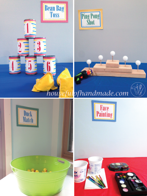 Part 1 of our Carnival Birthday Party. See how we turned our house into a  carnival with 4 party games, including free printables for your next party.